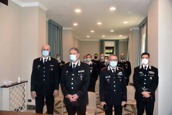 Foto saluto del C.te Int. agli Ufficiali neogiunti il 25.9.21