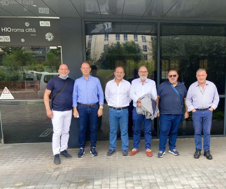Foto componenti segreteria FSI-USAE SICILIA al Consiglio Naz.le del 25-26 settembre 2021